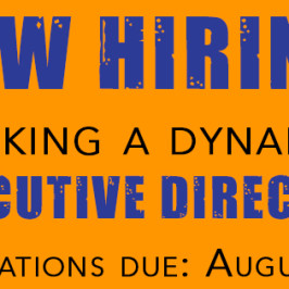 NOW HIRING: Seeking a Dynamic Executive Director