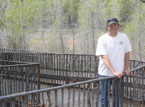 Hotchkiss Blacksmith Creates Beautiful Riverside Ramp