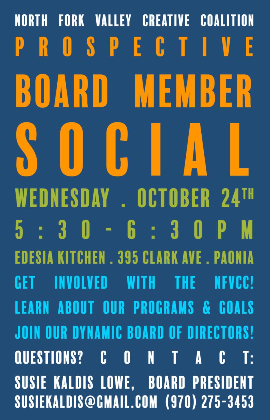 Prospective Board Member Social - Paonia Creative District